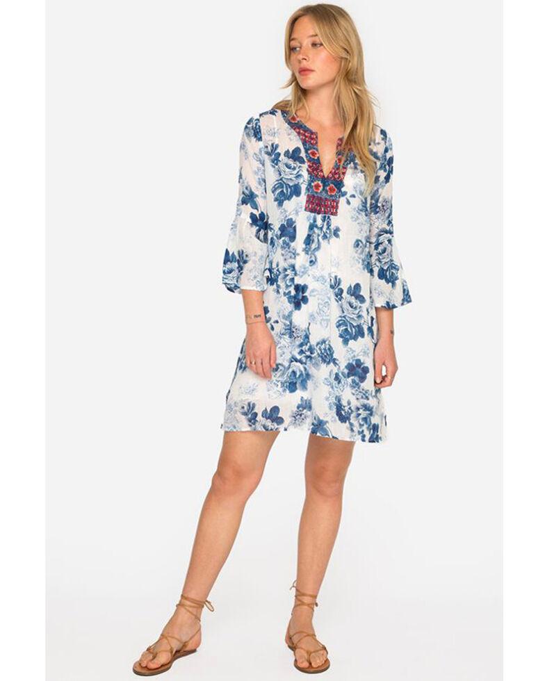 Johnny Was Women\'s Blue Flare Sleeve Tunic Dress - Plus Size ...