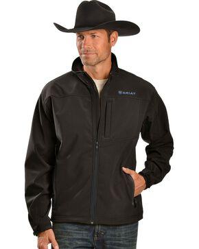 Ariat Men's Vernon Black Softshell Jacket, Black, hi-res