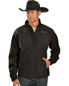 Ariat Men's Vernon Black Softshell Jacket, Black, hi-res