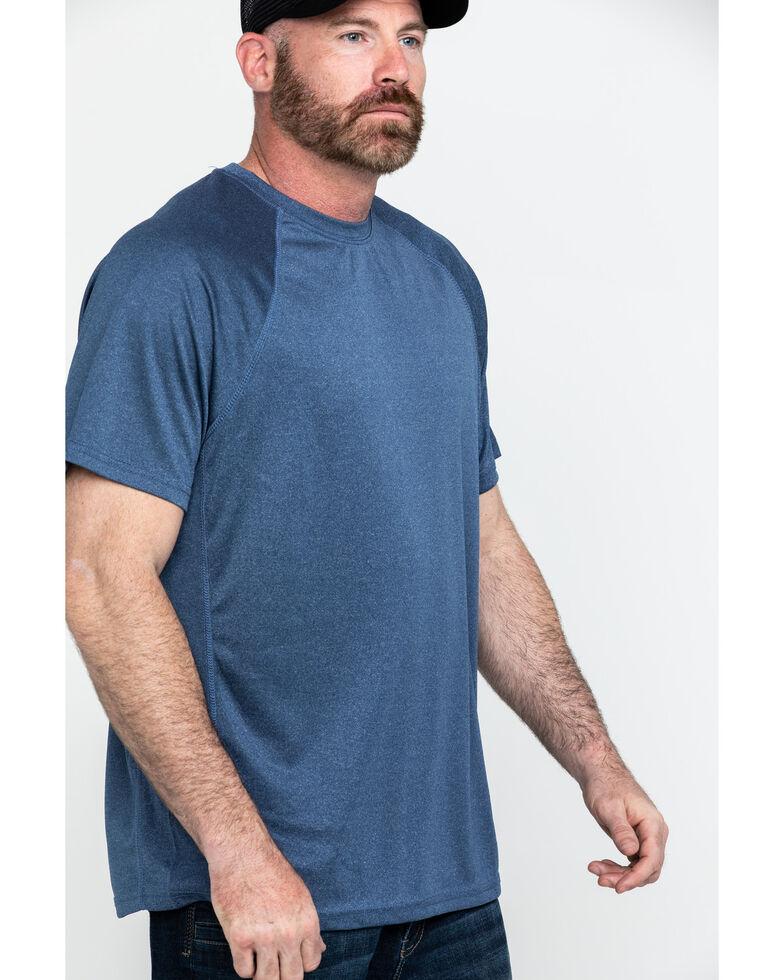 Hawx® Men's Solid Performance Work T-Shirt - Tall , Navy, hi-res