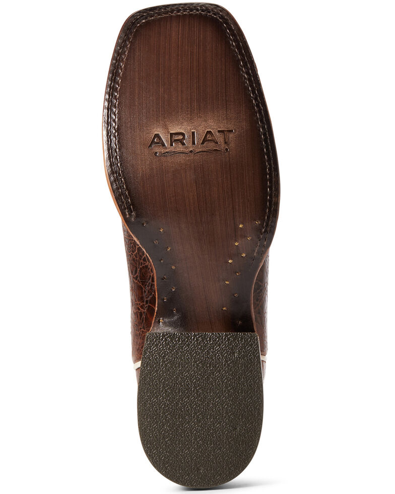 Ariat Men's Circuit Gritty Western Boots - Wide Square Toe, Brown, hi-res