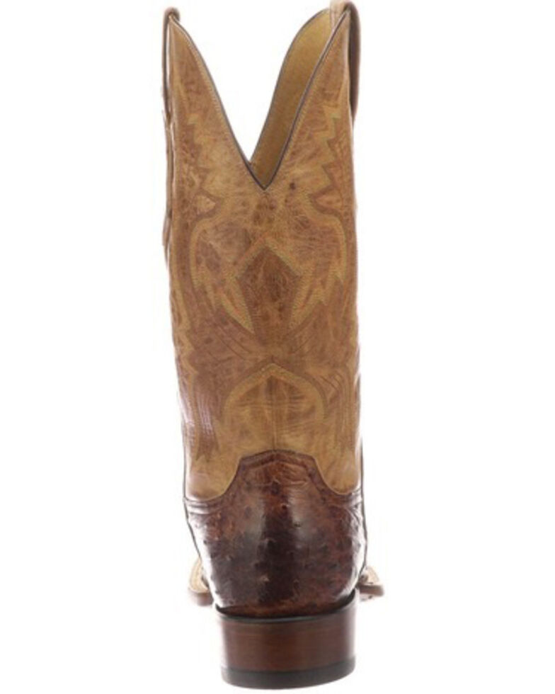 Lucchese Men's Cliff Exotic Western Boots - Square Toe, Dark Brown, hi-res