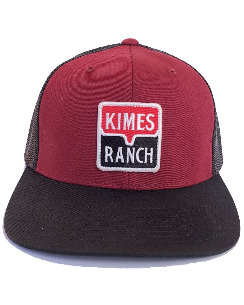 Kimes Ranch Red Explicit Warning Mesh Trucker Cap   , Red, hi-res