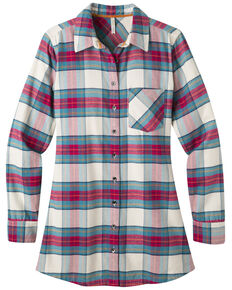 Mountain Khakis Women's Penny Plaid Flannel Tunic Shirt, Cream, hi-res