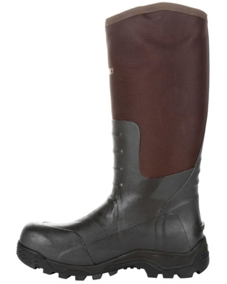 Rocky Men's Black Rubber Snake Boots - Round Toe, Brown, hi-res