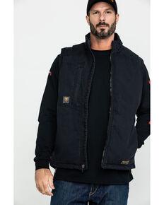 Ariat Men's Rebar Washed Dura Canvas Insulated Work Vest , Black, hi-res