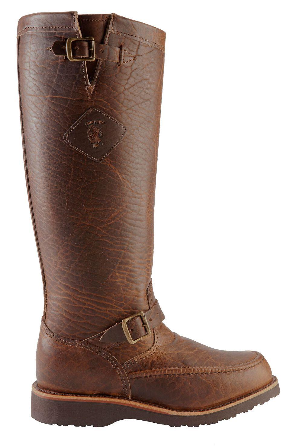 Chippewa Iowa American Bison Snake Boots - Mocc Toe, Tan, hi-res