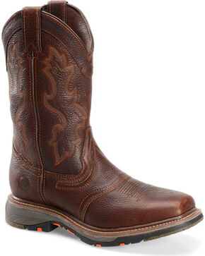 Double H Men's Workflex EH Work Boots - Square Toe, Brown, hi-res