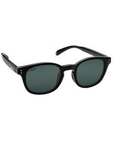 Hobie Wright Shiny Black & Grey PC Polarized Sunglasses , Black, hi-res