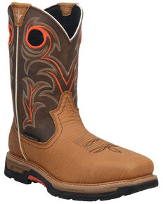 Dan Post Men's Storm's Eye Western Work Boots - Composite Toe, Brown, hi-res