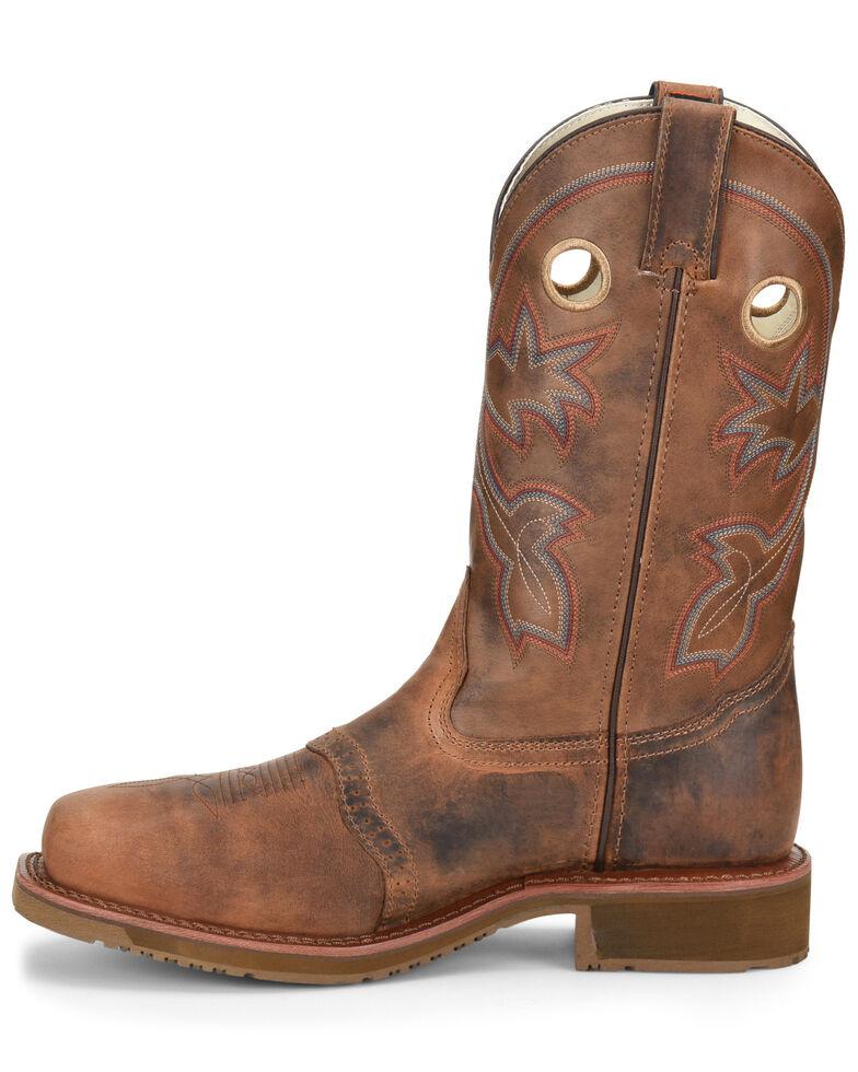 Double H Men's Ice Roper Western Work Boots - Composite Toe, Brown, hi-res