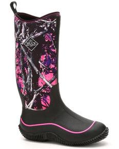 Muck Boots Women's Hale Camo Rubber Boots - Round Toe, Black, hi-res