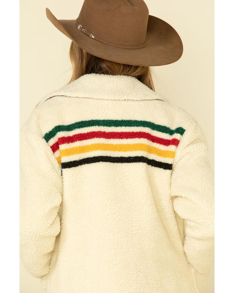 Pendleton Women's Ivory Glacier Sunset Sherpa Barn Jacket , , hi-res