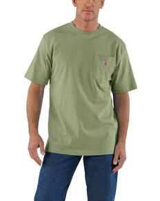 Carhartt Men's Green Workwear Pocket Short Sleeve Work T-Shirt - Big, Green, hi-res