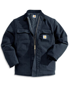 Carhartt Men's Traditional Duck Zip-Front Work Jacket, Navy, hi-res