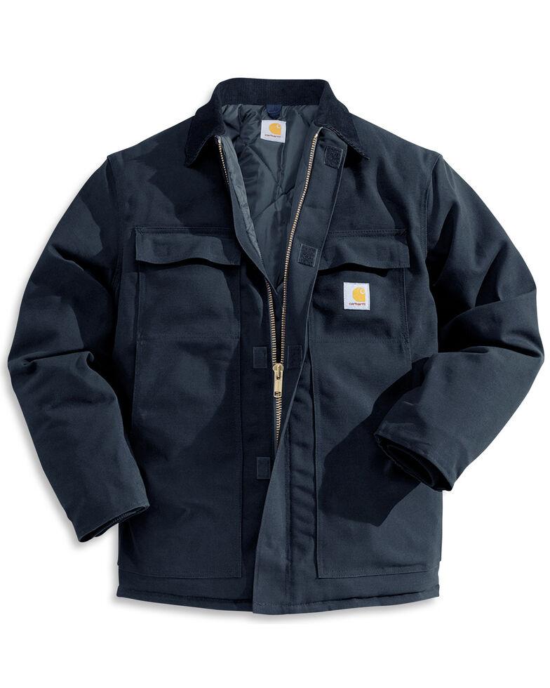 Carhartt Men's Traditional Duck Zip-Front Work Jacket, Navy, hi-res