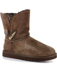 UGG Women's Meadow Short Boots - Round Toe, Chocolate, hi-res
