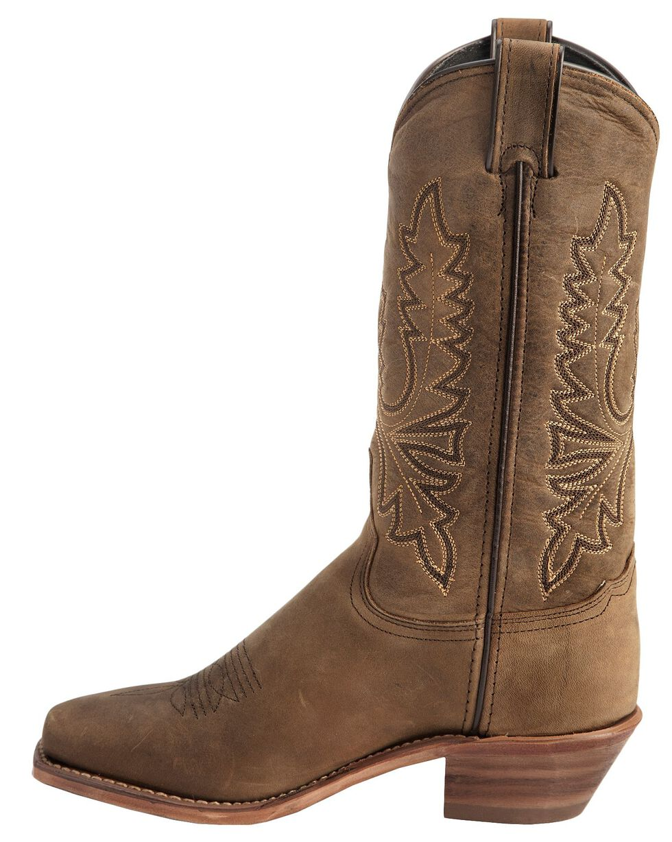 Abilene Oiled Cowhide Cowgirl Boots - Square Toe, Olive, hi-res
