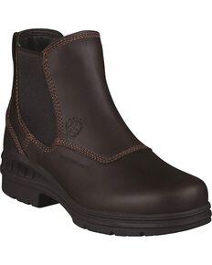 Ariat Waterproof Twin Gore Work Boots - Round Toe, Dark Brown, hi-res