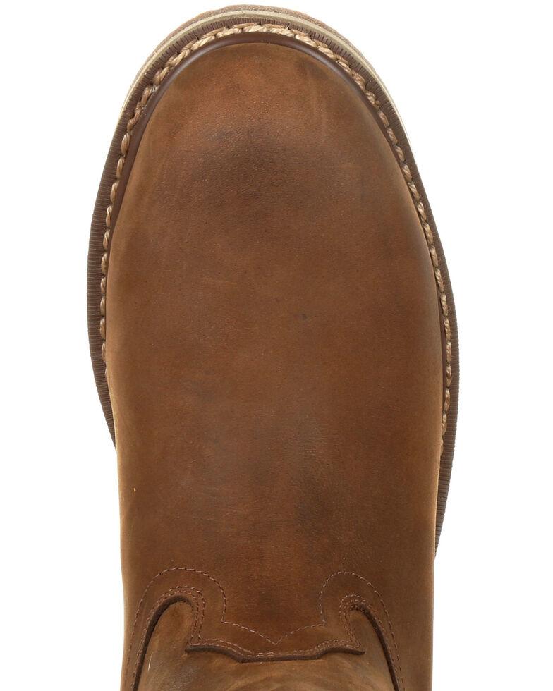 Rocky Men's Cody Waterproof Western Boots - Steel Toe, Brown, hi-res
