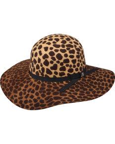 Charlie 1 Horse Women's Jezebel Cheetah Print Felt Hat, Leopard, hi-res