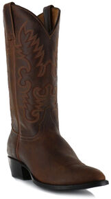 Cody James Men's Classic Brown Western Boots - Medium Toe, Brown, hi-res