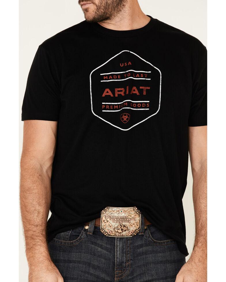 Ariat Men's Black Made To Last USA Graphic T-Shirt , Black, hi-res