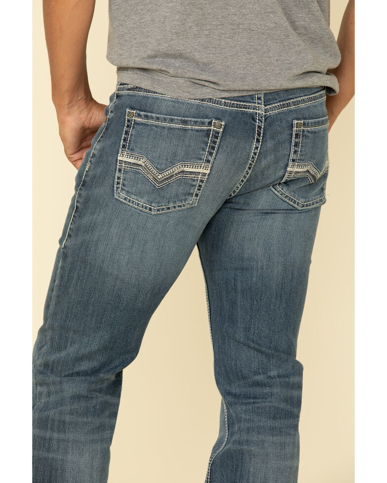 Rock & Roll Denim Men's Revolver Reflex Medium Stretch Slim Straight Jeans , Blue, hi-res
