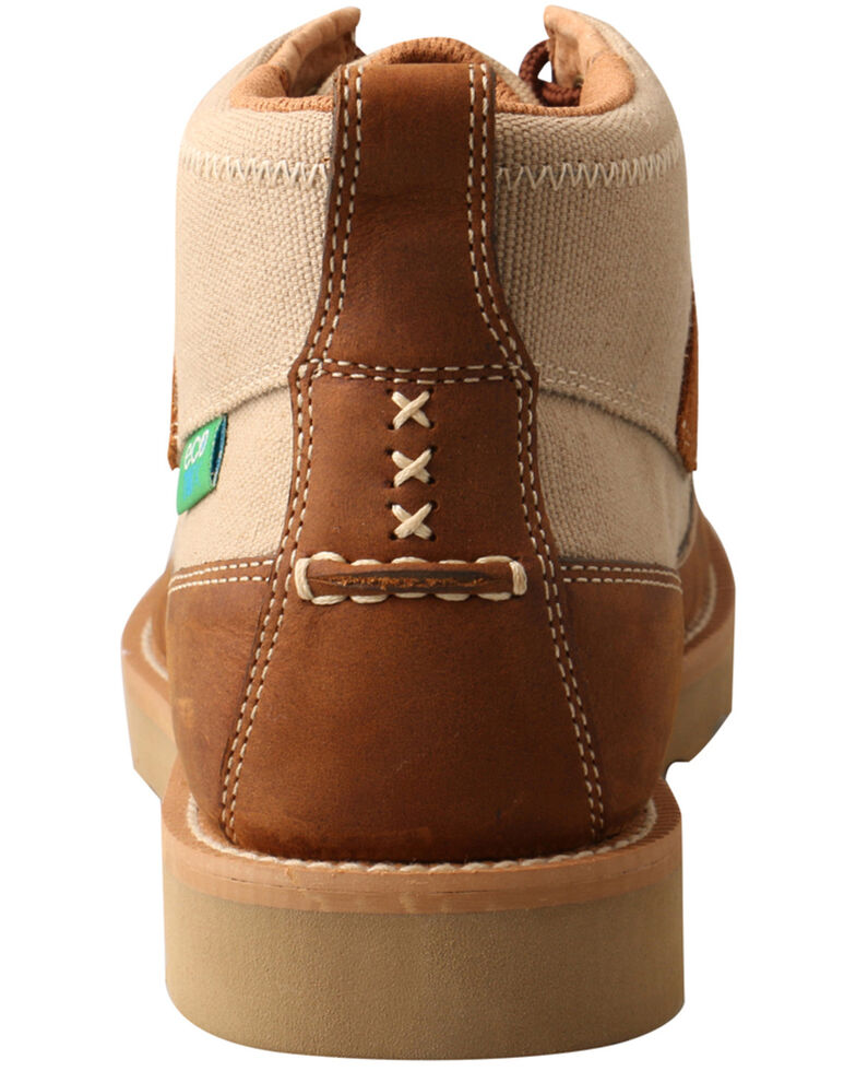 Twisted X Men's Wedge Sole Driving Shoes - Moc Toe, Beige/khaki, hi-res