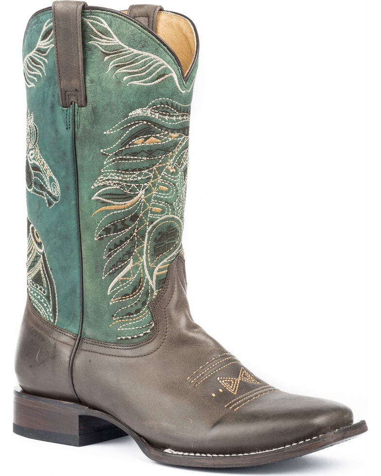 Roper Women's Art Of The Horse Cowgirl Boots - Square Toe, Brown, hi-res