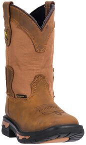Dan Post Kid's Everest Boots - Square Toe, Brown, hi-res