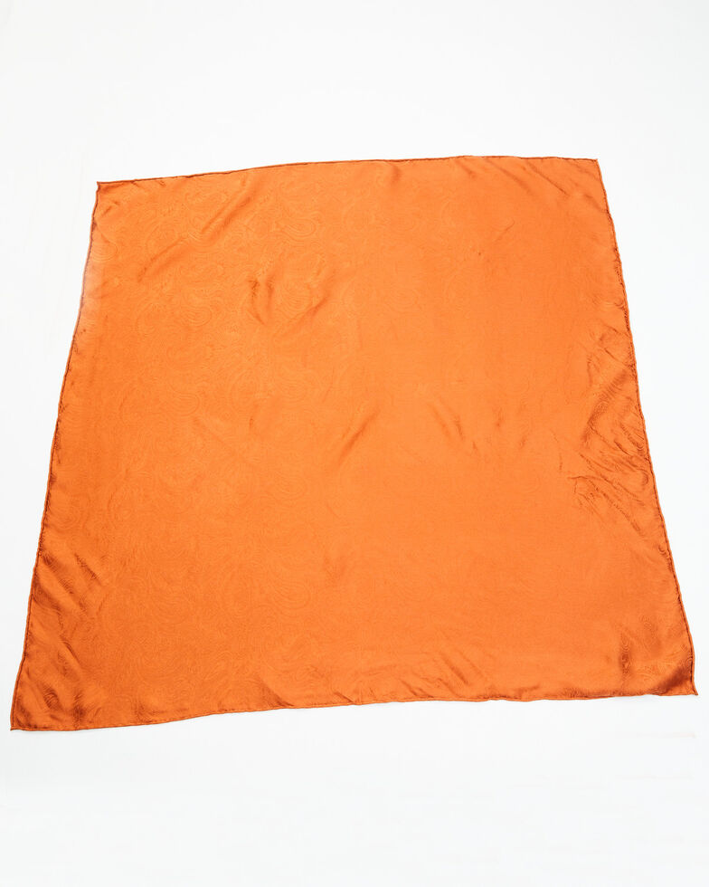 Cody James Women's Silk Jacquard Wild Rag Scarf, Rust Copper, hi-res