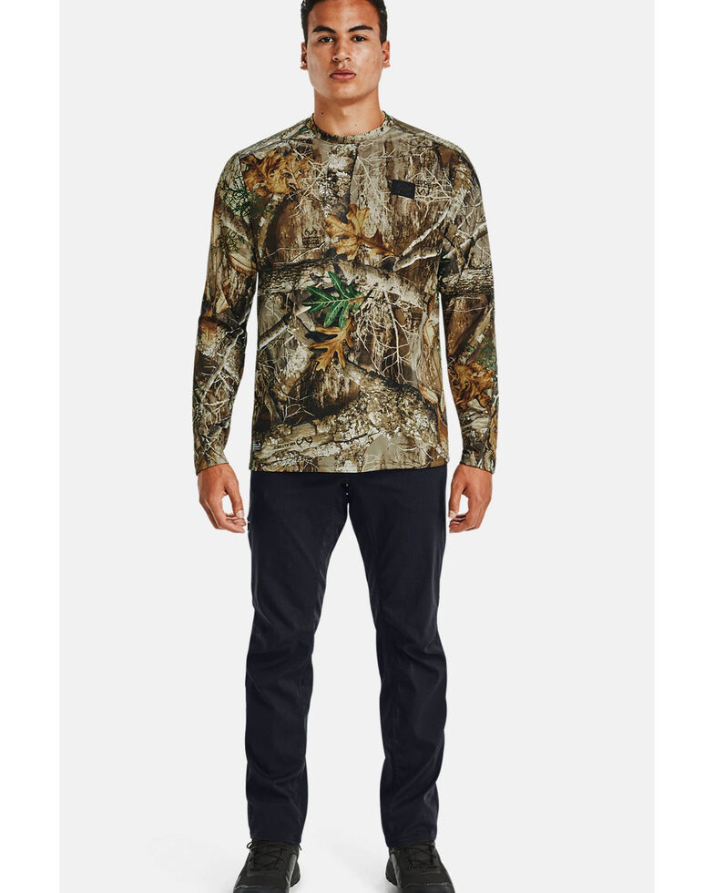 Under Armour Men's Realtree Iso-Chill Brushline Long Sleeve Work Shirt , Camouflage, hi-res