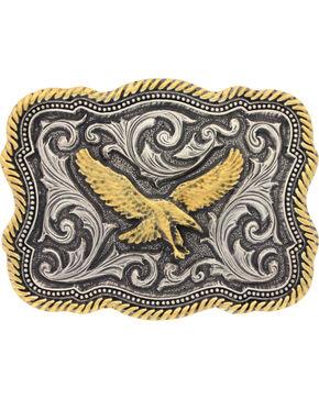 Montana Silversmiths Men's Silver Soaring Eagle Belt Buckle , Silver, hi-res