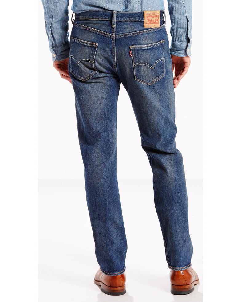 8d2a80de Zoomed Image Levi's Men's 501 Original Fit Stretch Jeans, Indigo, hi-res