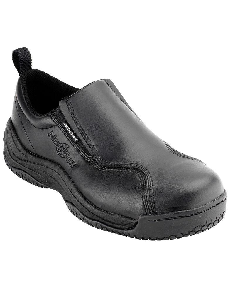 Nautilus Women's Black Ergo Slip-On Work Shoes - Composite Toe , Black, hi-res