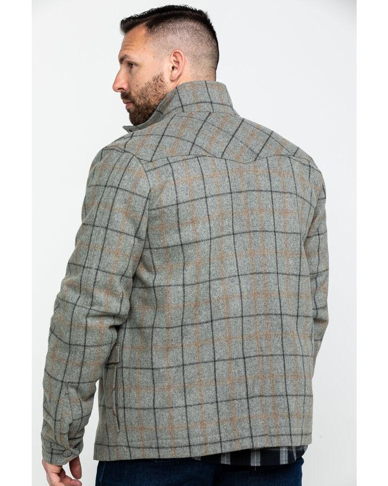 Powder River Outfitters Men's Heather Plaid Coat , Grey, hi-res