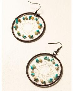 Shyanne Women's WIllow Moon Circular Dreamcatcher Earrings , Rust Copper, hi-res