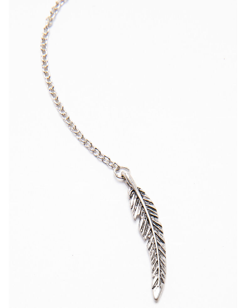 Shyanne Women's Autumn Mini Concho Choker Necklace , Silver, hi-res