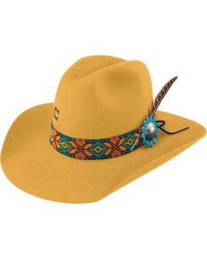 Charlie 1 Horse Womens Yellow Gold Digger 5X Cowgirl hat  51a0fc408d7a