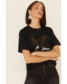 Wondery Women's Black Wild States Of America Graphic Tee , Black, hi-res