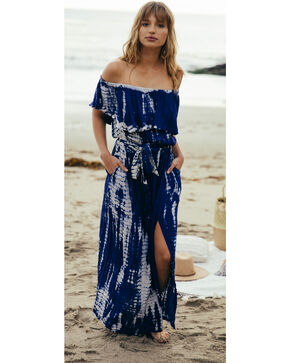 Sage the Label Women's Isabella Maxi Dress , Navy, hi-res