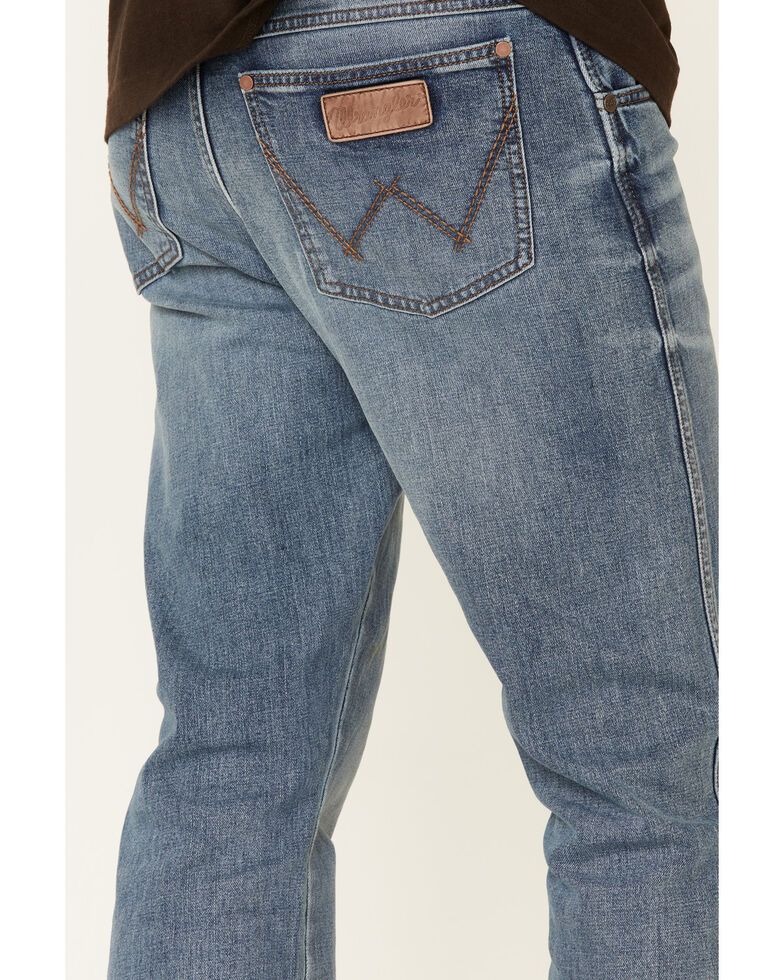 Wrangler Retro Men's Burleson Light Wash Relaxed Bootcut Jeans - Tall , Blue, hi-res