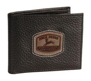 John Deere Bi-Fold Leather Wallet, Black, hi-res