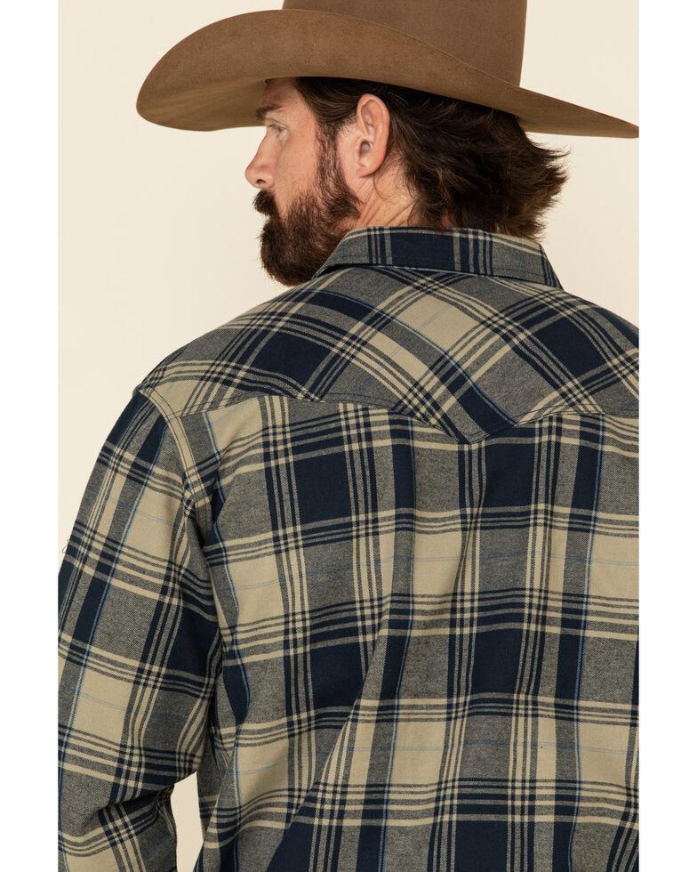 Cody James Men's Bogus Large Bonded Plaid Long Sleeve Western Flannel Shirt , Tan, hi-res