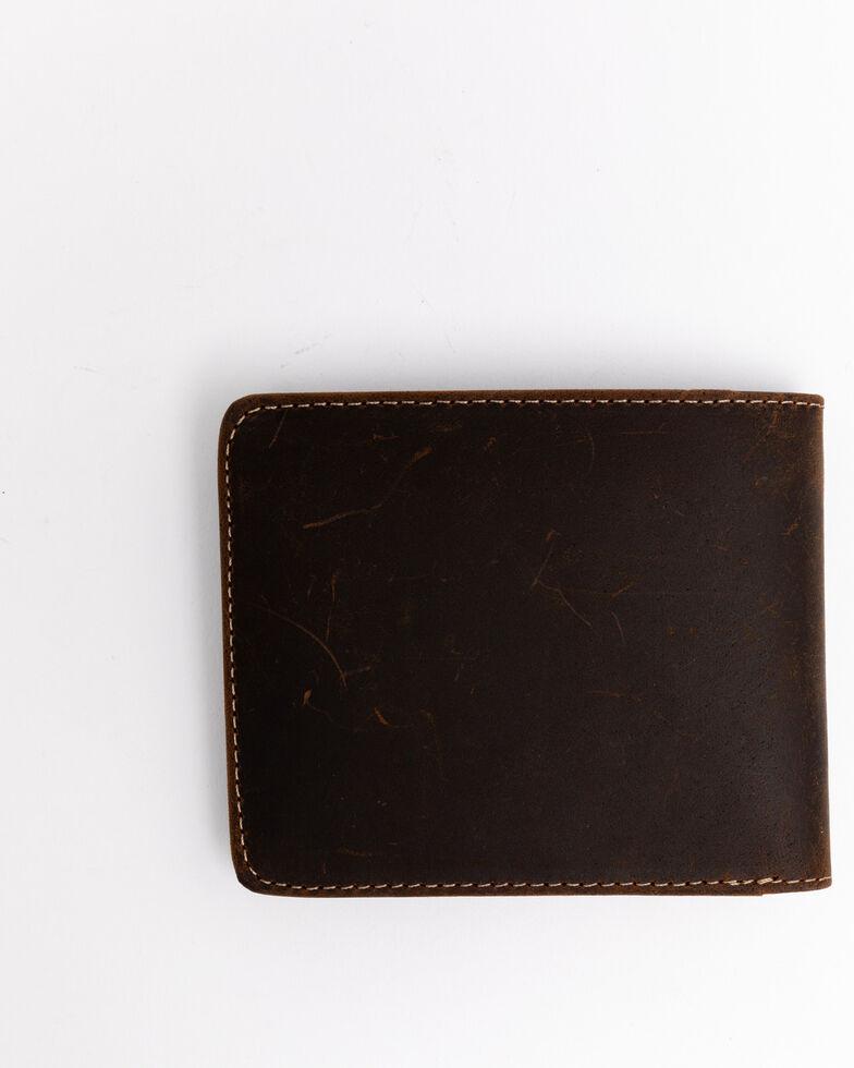 Cody James Men's Boot Stitch Bi-Fold Leather Wallet , Cognac, hi-res