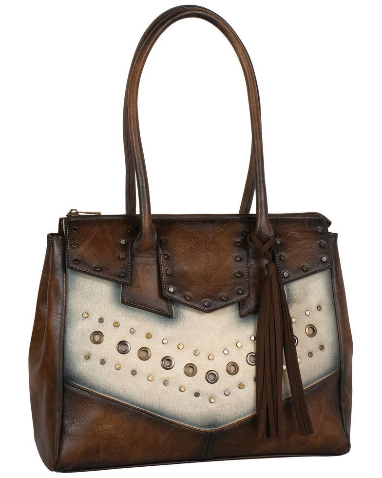 Catchfly Women's Allie Tote Bag, Dark Brown, hi-res