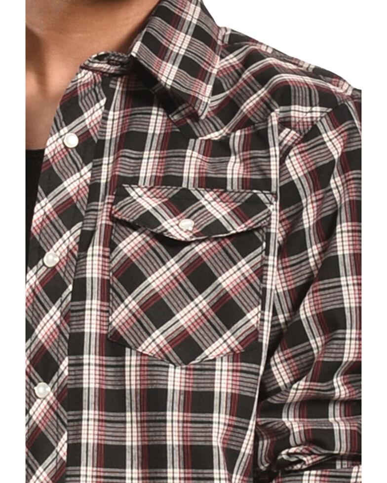Wrangler Boys' Assorted Plaid Long Sleeve Western Shirt , Plaid, hi-res