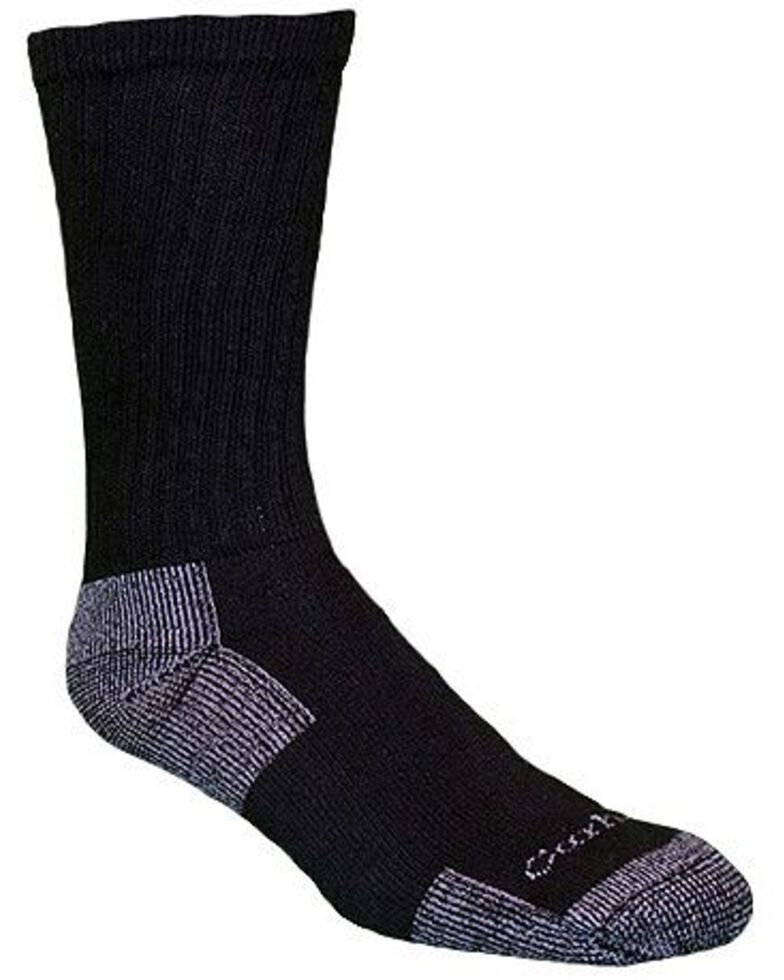 Carhartt All Season Cotton Crew Work Socks, Black, hi-res