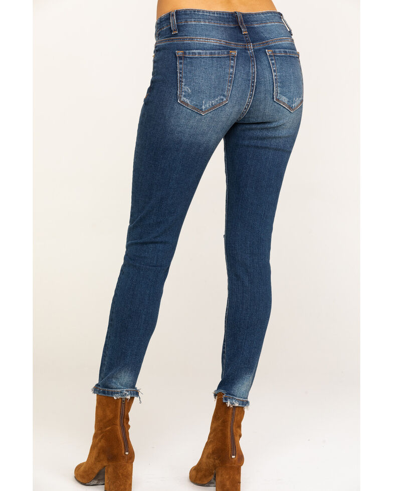 Miss Me Women's Medium Button Front Distressed Skinny Jeans, Blue, hi-res